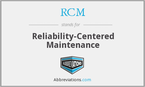 RCM - Reliability-Centered Maintenance