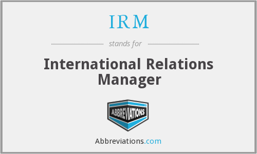 IRM - International Relations Manager