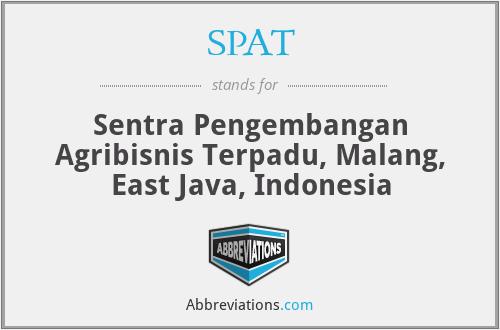 SPAT - Sentra Pengembangan Agribisnis Terpadu, Malang, East Java, Indonesia
