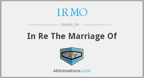 What does IRMO stand for?