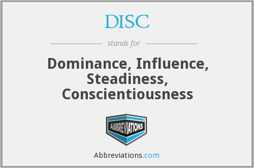 DISC - Dominance, Influence, Steadiness, Conscientiousness