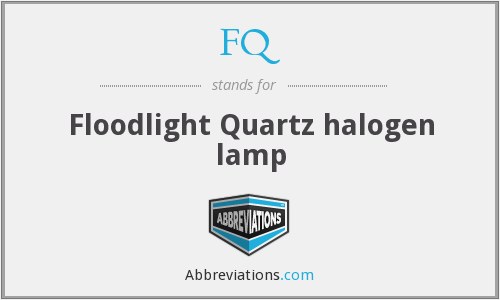 FQ - Floodlight Quartz halogen lamp
