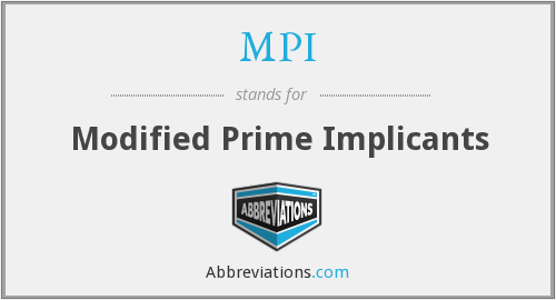 MPI - Modified Prime Implicants