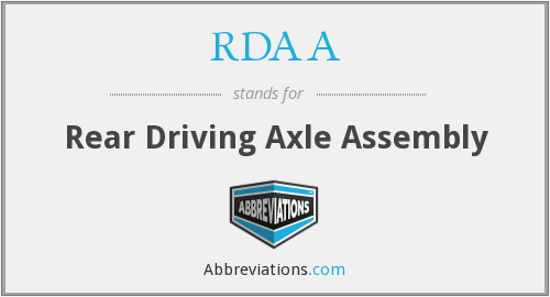 What does RDAA stand for?