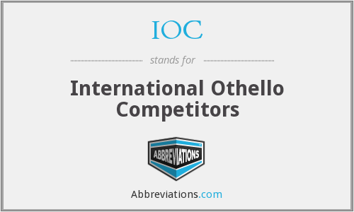 IOC - International Othello Competitors