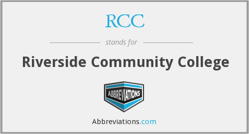RCC - Riverside Community College