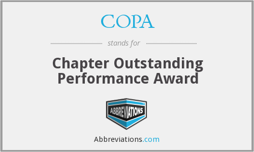 COPA - Chapter Outstanding Performance Award