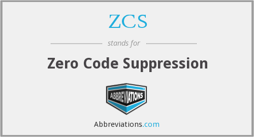 ZCS - Zero Code Suppression