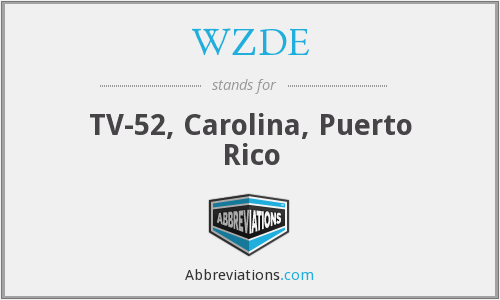 What does WZDE stand for?