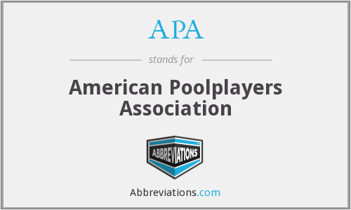 APA - American Poolplayers Association