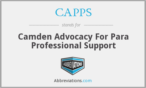 CAPPS - Camden Advocacy For Para Professional Support
