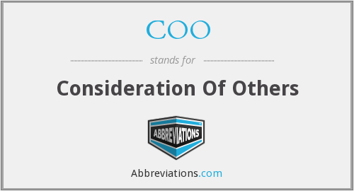 COO - Consideration Of Others