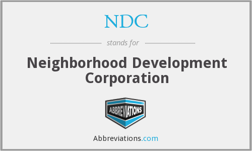 NDC - Neighborhood Development Corporation