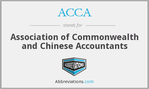 ACCA - Association of Commonwealth and Chinese Accountants