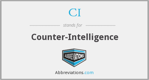 CI - Counter-Intelligence