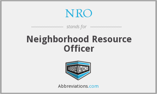 NRO - Neighborhood Resource Officer