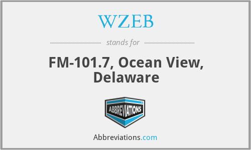 WZEB - FM-101.7, Ocean View, Delaware