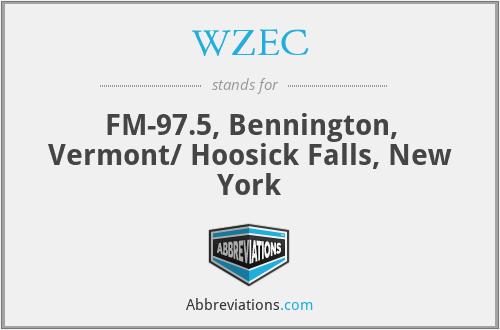 WZEC - FM-97.5, Bennington, Vermont/ Hoosick Falls, New York