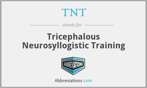 TNT - Tricephalous Neurosyllogistic Training