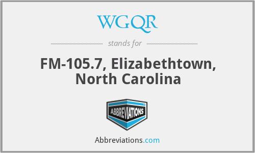 WGQR - FM-105.7, Elizabethtown, North Carolina