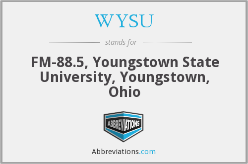 WYSU - FM-88.5, Youngstown State University, Youngstown, Ohio