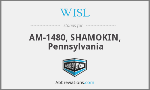 WISL - AM-1480, SHAMOKIN, Pennsylvania
