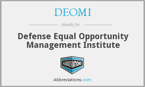DEOMI - Defense Equal Opportunity Management Institute