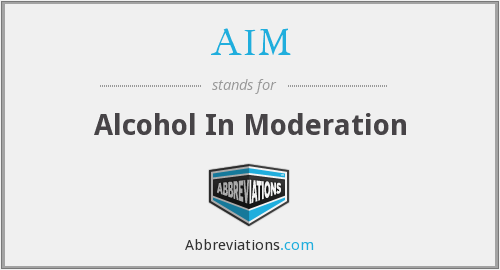 AIM - Alcohol In Moderation