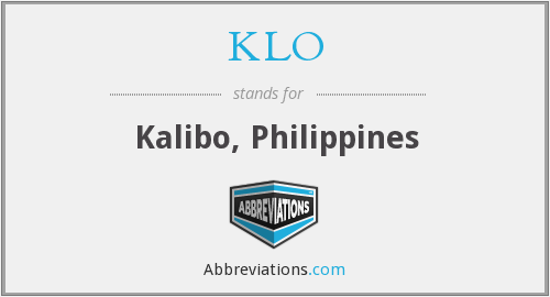 What does KLO stand for?