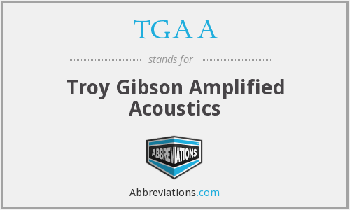 TGAA - Troy Gibson Amplified Acoustics