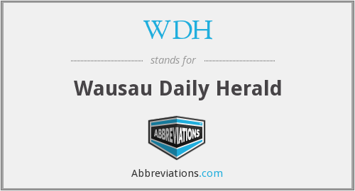 What does WDH stand for?