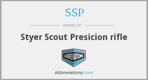 SSP - Styer Scout Presicion rifle
