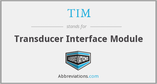 TIM - Transducer Interface Module