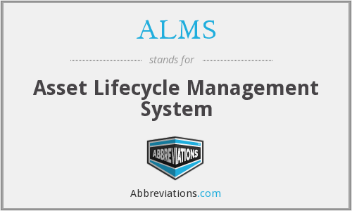 ALMS - Asset Lifecycle Management System