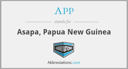 APP - Asapa, Papua New Guinea