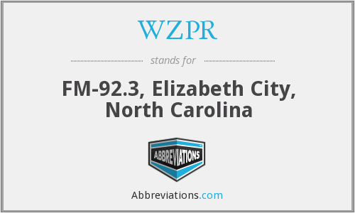 WZPR - FM-92.3, Elizabeth City, North Carolina