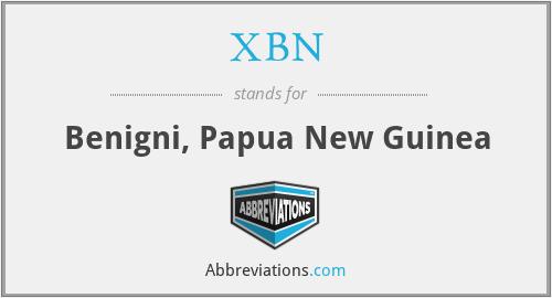 XBN - Benigni, Papua New Guinea