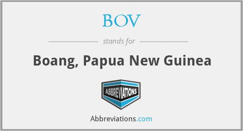 BOV - Boang, Papua New Guinea