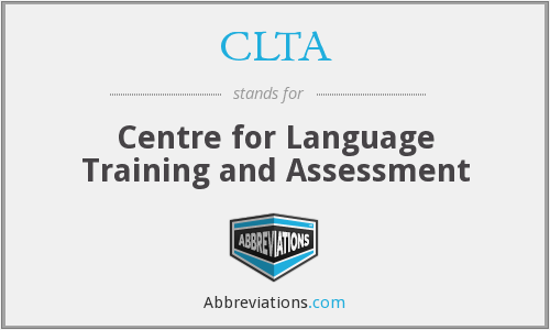 CLTA - Centre for Language Training and Assessment