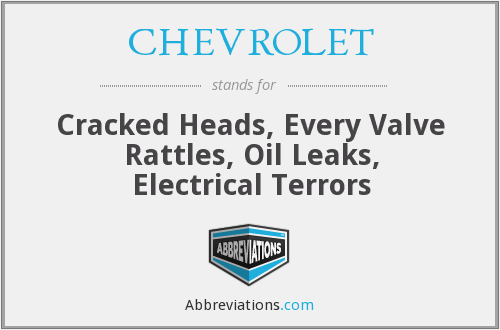 CHEVROLET - Cracked Heads, Every Valve Rattles, Oil Leaks, Electrical Terrors
