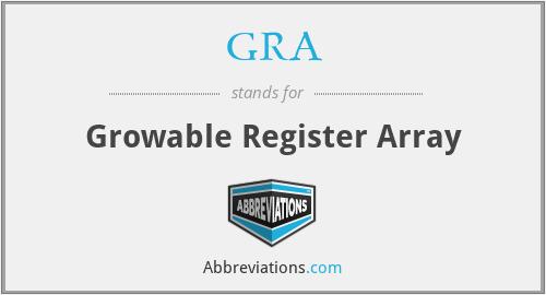 GRA - Growable Register Array