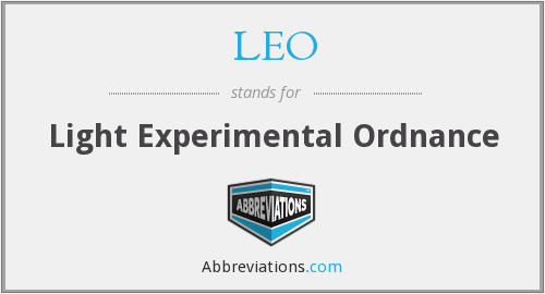 LEO - Light Experimental Ordnance