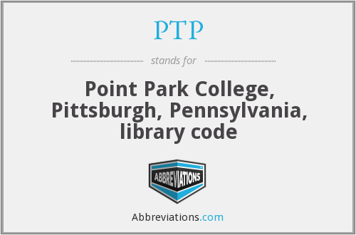 PTP - Point Park College, Pittsburgh, Pennsylvania, library code