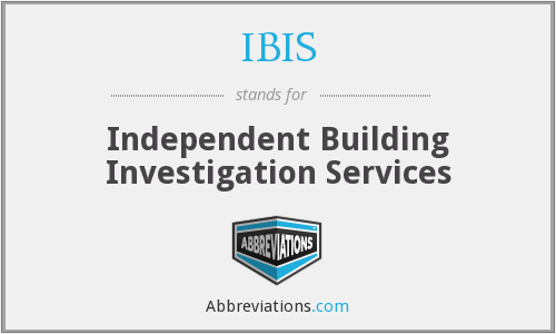 IBIS - Independent Building Investigation Services