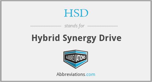 HSD - Hybrid Synergy Drive