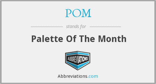 POM - Palette Of The Month