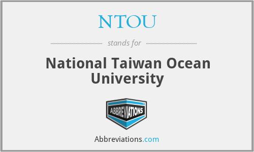 NTOU - National Taiwan Ocean University