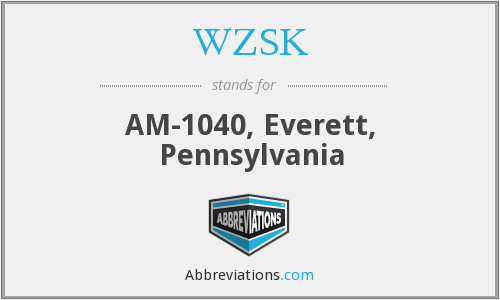 WZSK - AM-1040, Everett, Pennsylvania