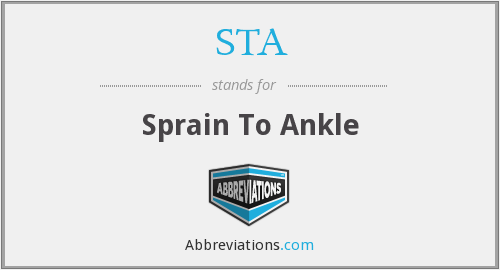 STA - Sprain To Ankle