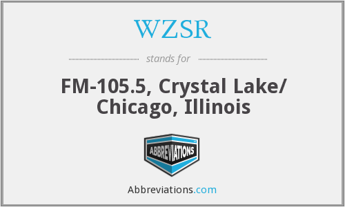 WZSR - FM-105.5, Crystal Lake/ Chicago, Illinois